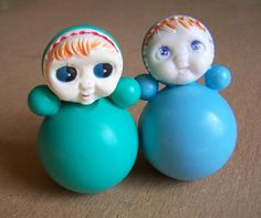 2 Sisters Vintage Roly Poly Toy Doll.