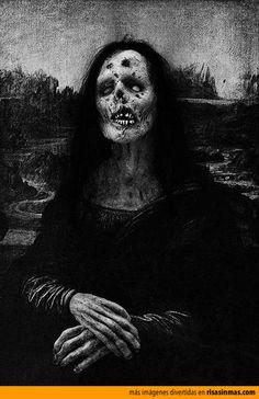 La mona Lisa zombie.