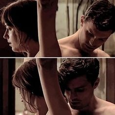 Jamie Dornan https://www.pinterest.com/lilyslibrary/ Anastasia and Christian in the Red Room Fifty Shades of Grey