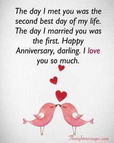 23 best wedding anniversary wishes messages the right Wedding Anniversary Greetings 2019 - Cards 2000 ~ Invitations Ideas Anniversary Wishes For Him, Happy Anniversary To My Husband, Happy Wedding Anniversary Wishes, Birthday Wishes For Girlfriend, Marriage Anniversary, Wedding Wishes, First Anniversary Quotes, Wedding Quotes, Wishes Messages