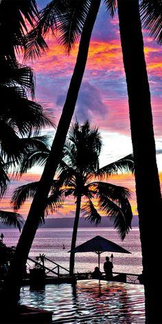 Colourful sunsets in Port Vila, Vanuatu