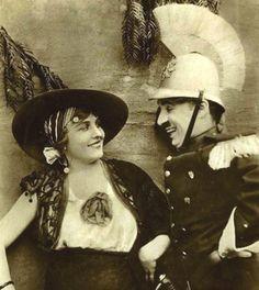Charlie Chaplin and Edna Purviance in the film Burlesque on Carmen. Charlie Chaplin, Stan Laurel, Silent Film Stars, Movie Stars, Mabel Normand, Film Burlesque, Edna Purviance, Charles Spencer Chaplin, Harold Lloyd