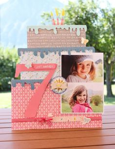 birthday cake layout by Sophie Crespy for American Crafts