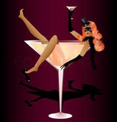 On dark red background in a glass of wine is a beautiful lady in . Art Deco Posters, Vintage Posters, Art Deco Interior Bedroom, Dark Red Background, Wine Poster, Modern Pop Art, Black Love Art, Art Folder, Retro Lingerie