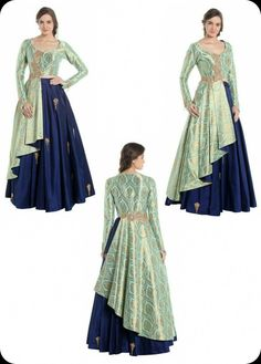 ❤ s anas ❤ Indian Gowns Dresses, Indian Fashion Dresses, Dress Indian Style, Indian Designer Outfits, Pakistani Dresses, Designer Dresses, Fashion Outfits, Dress Neck Designs, Stylish Dress Designs