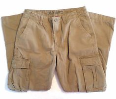 Mens Size 34x34 Old Navy Plaid Flannel Lined Cargo Pants, Khaki Color,Insulated. $16.99