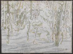 David Milne, From the Doorway, Alander Cabin, 1928