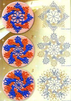 Crochet hook-illustrations New: two-tone round crochet motifs. Discussion on LiveInternet - Russian Service Online Diaries Filet Crochet, Mandala Au Crochet, Crochet Circles, Crochet Motifs, Crochet Blocks, Crochet Chart, Crochet Squares, Thread Crochet, Love Crochet
