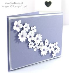 Stampin' Up! UK Demonstrator Pootles - Blendabilities and Pearls on a Wedding Cake Card