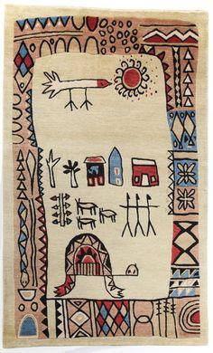 Tola Wewe rug   Africa on the Floor