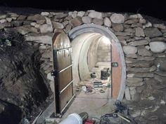 What a resourceful guy! hobbit cellar