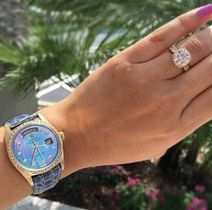 Tacori Gold Engagement Rings + Rolex Watches = The Perfect Pair