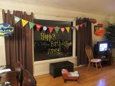 Sesame Street birthday banner -- bunting