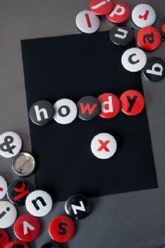 Alphabet Pin Badges