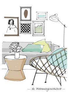 Home Decorating Games For Adults Drawing Interior, Interior Sketch, Mood Board Interior, Interior Styling, Interior Design Singapore, Interior Design Kitchen, Croquis Architecture, Perspective Sketch, Desenhos Gravity Falls