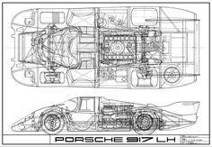 porsche blueprints - Google Search