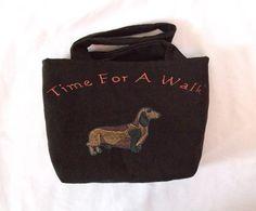Dachshund Walking Bag, Dog Travel Tote, Leash Bag no1