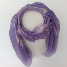 Purple silk scarf, Long purple scarf, Fashion long scarf, Handmade lightweight scarf, purple sash, Hajib scarf, Ready to ship Holiday gift  by blingscarves. Explore more products on http://blingscarves.etsy.com