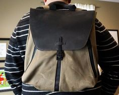 Staad Laptop Backpack via The Awesomer | Buy: http://www.sfbags.com/products/staad-laptop-backpack