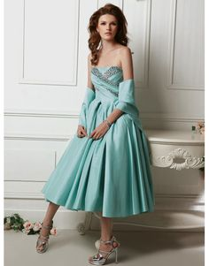 Vintage Style Strapless Dress 0701ST