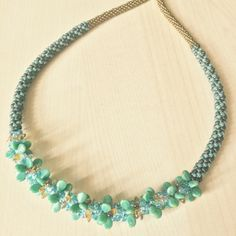 "Artbeader ""cindimams"" made this cool Kumihimo necklace with the help of Preciosa Pip beads."
