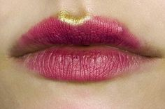 berry stained lips gold cupid bow