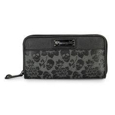 Loungefly Skull Lace Black Embossed Wallet -$35.00