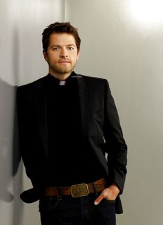 """*falls over* Misha Collins in """"Divine: The Series"""" Sometimes, when confronted with pictures of pretty people, it causes physical pain in my chest and it causes me to start hyperventilating."""
