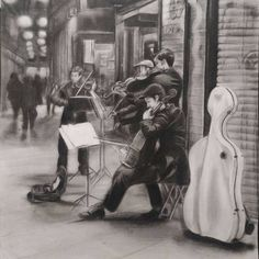 Carboncillo, El sonido de la calle - @hernnoso en Instagram Instagram, Painting, Art, Street, Art Background, Painting Art, Kunst, Paintings, Performing Arts