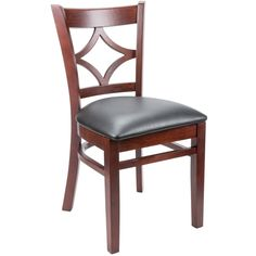 "Lancaster Table & Seating Mahogany Diamond Back Chair with 2 1/2"" Padded Seat    $64.99"