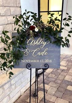 Are you still looking for the perfect wedding signage for your upcoming wedding day? Love the idea of welcoming your wedding guests in sty. Wedding Date Sign, Wedding Signage, Wedding Humor, Wedding Story, Dream Wedding, Wedding Arch Greenery, Boho Wedding Decorations, Engagement Party Planning, Wedding Planning Tips