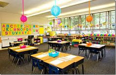 Kim noticed how the kids in Miss Kumar's classroom were always laughing and their classroom was decorated. Her own classroom was barren.
