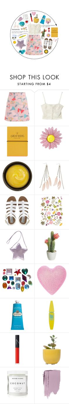 """""""Untitled #2067"""" by momoheart ❤ liked on Polyvore featuring Topshop, 3AM Imports, de Mamiel, Charlotte Russe, Bertie, Crabtree & Evelyn, Maybelline, NARS Cosmetics, Dot & Bo and Herbivore"""