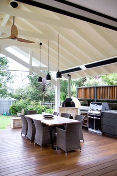 An outdoor kitchen can be an addition to your home and backyard that can completely change your style of living and entertaining. Earlier, barbecues temporarily set up, formed the extent of culinary attempts, but now cooking outdoors has become an. Outdoor Bbq Kitchen, Outdoor Kitchen Design, Outdoor Living Rooms, Outdoor Dining, Outdoor Decor, Alfresco Area, Backyard Patio Designs, Outdoor Areas, Alfresco Designs