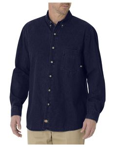d07f1a05a57f Long Sleeve Button-Down Denim Shirt