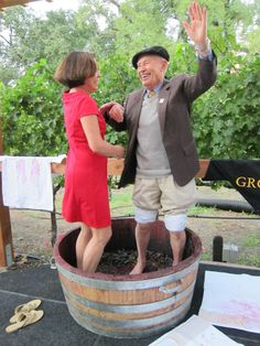 Grgich Hills Grape Stomping Party - 3 Fun Ways to Celebrate California Wine Month in Monterey County, Napa Valley, and San Luis Obispo! #wine #winetasting #CAWineMonth