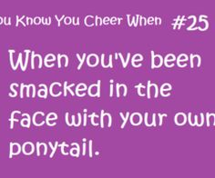 you know your a cheerleader when.