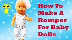 💖 How to sew a Baby Doll Romper DIY Cute Clothes Easy