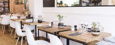 Fraîche, 8 Rue Vicq d'Azir, 75010 Paris, 01 40 37 54 23, ouvert du mardi au samedi, de 12h00 à 14h30 et de 19h30 à 23h00. Le Menu du marché servi le midi (entrée, plat, dessert) est à 16 euros.