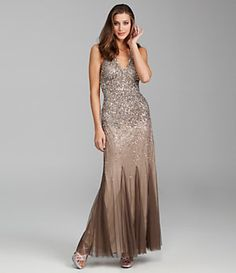 Nightway Beaded Halter Gown | Dillard's Mobile.want for my bridesmaods