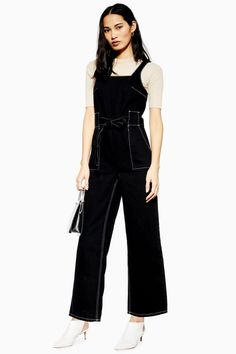 8a995667136 Square Neck Denim Jumpsuit - Denim - Clothing - Topshop USA