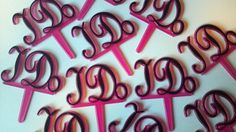 I DO Cupcake Topper Pick in Hot Pink and by AisforApronStrings, $6.00
