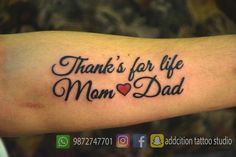 50 Best Mom Dad Tattoos Images In 2019 Tattoo Ideas Tatoos Lotus