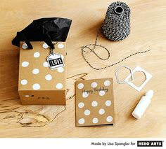 Dauberpalooza gift bag + matching card by Lisa Spangler for Hero Arts