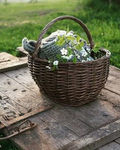Farmhouse Baskets, Spring Home, Wicker Baskets, Life Is Good, Simple, Garden, Instagram, Home Decor, Country