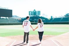 Getting engagement photos taken with his fiancee at Wrigley Field might be the most adorably Cubs thing Kris Bryant has done yet.