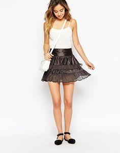 Vero Moda Tiered Ruffle Short Skirt