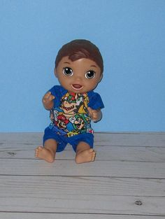 Your place to buy and sell all things handmade Baby Alive Doll Clothes, Boy Doll Clothes, Baby Alive Dolls, Short Set, All The Way Down, Short Outfits, Rocking Chair, Baby Boy, Disney Characters