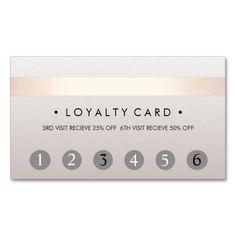 Beauty Salon 6 Punch Customer Loyalty Card Business Card