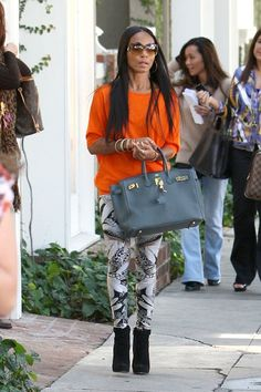 Splurge: Jada Pinkett Smith's West Hollywood Shopping Alexander McQueen Wing Print Stretch Leggings - The Fashion Bomb Blog : Celebrity Fashion, Fashion News, What To Wear, Runway Show Reviews